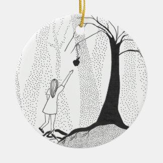 Ornement Rond En Céramique Les faims de forêt