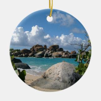 Ornement Rond En Céramique Les Îles Vierges