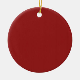 Ornement Rond En Céramique Les nuances vides simples do-it-yourself de rouge