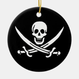 Ornement Rond En Céramique Les pirates sont l� -