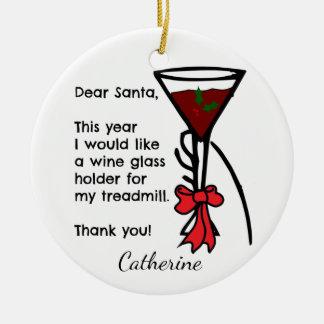 Ornement Rond En Céramique Lettre drôle au support en verre de vin de tapis