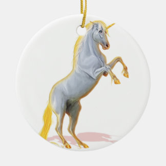 Ornement Rond En Céramique licorne