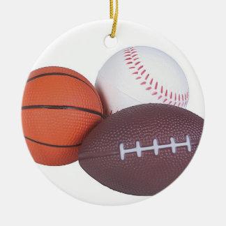 Ornement Rond En Céramique L'idée de cadeau de fan de sports folâtre Noël de
