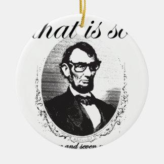 Ornement Rond En Céramique Lincoln qui est ainsi quatre-vingt et il y a de