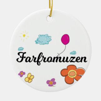 Ornement Rond En Céramique Logo de FarFrom Usen
