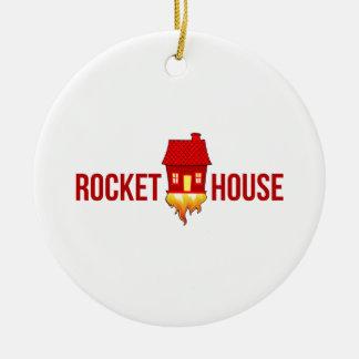 Ornement Rond En Céramique Logo T de RocketHouse