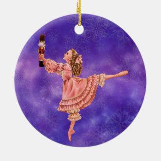 Ornement Rond En Céramique L'ornement de ballet de casse-noix