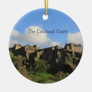 Ornement Rond En Céramique L'ornement de Noël de château d'Edimbourg