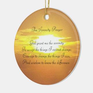 Ornement Rond En Céramique L'ornement de prière de sérénité