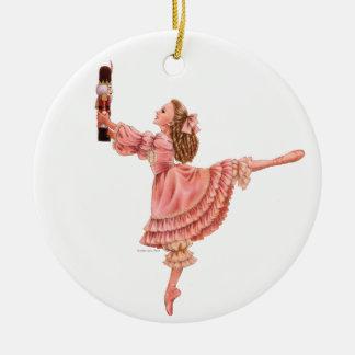 Ornement Rond En Céramique L'ornement rond de ballet de casse-noix