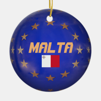 Ornement Rond En Céramique L'UE de Malte marquent l'ornement fait sur
