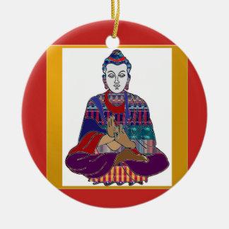 Ornement Rond En Céramique LUMIÈRE d'AMOUR aimable de paix de bouddhisme de
