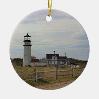 Ornement Rond En Céramique Lumière de Cape Cod