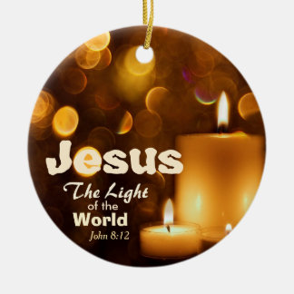 Ornement Rond En Céramique Lumière de Jésus de l'ornement de vers de bible du