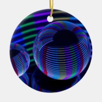 Ornement Rond En Céramique Lumières en spirale dans le cristal
