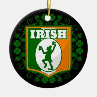 Ornement Rond En Céramique Lutin du jour de St Patrick