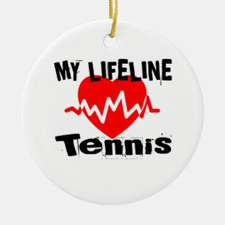 Ornement Rond En Céramique Ma ligne de vie tennis folâtre des conceptions