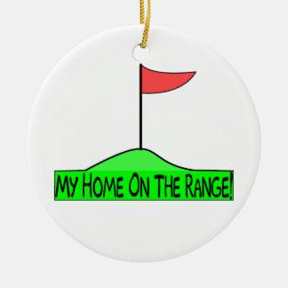Ornement Rond En Céramique Ma maison sur le golf de gamme