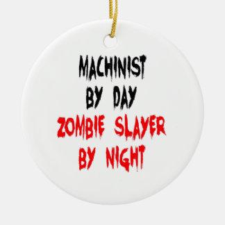 Ornement Rond En Céramique Machiniste de tueur de zombi