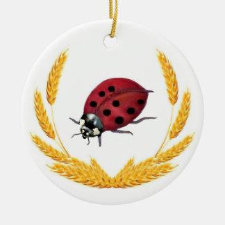 Ornement Rond En Céramique Madame chanceuse Bug