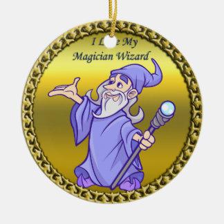 Ornement Rond En Céramique Magicien magique de pourpre de sorcière de