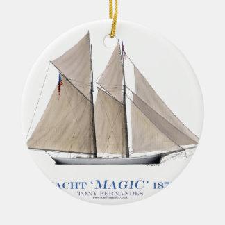 Ornement Rond En Céramique Magie 1870