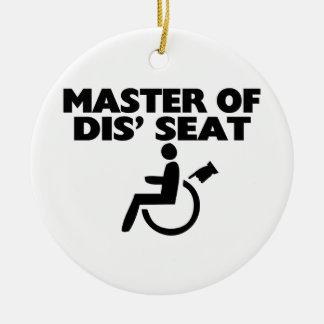 Ornement Rond En Céramique Maître du fauteuil roulant de Seat du DIS