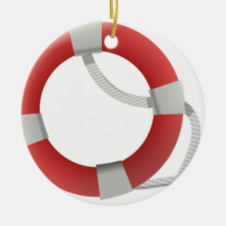 Ornement Rond En Céramique Maître nageur