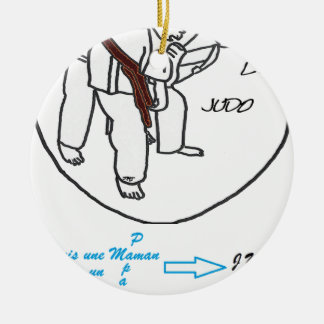Ornement Rond En Céramique MAMAN PAPA FANS JUDO.png