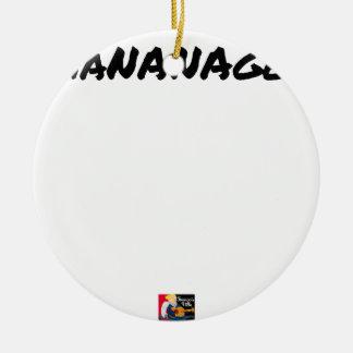 Ornement Rond En Céramique MANANAGER - Jeux de mots - Francois Ville