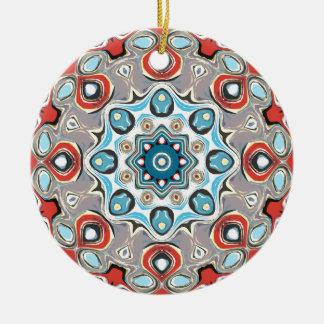 Ornement Rond En Céramique Mandala abstrait de pastels
