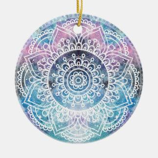 Ornement Rond En Céramique Mandala de galaxie