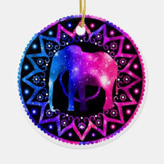 Ornement Rond En Céramique Mandala d'éléphant