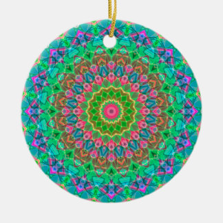 Ornement Rond En Céramique Mandala géométrique G18 d'ornement