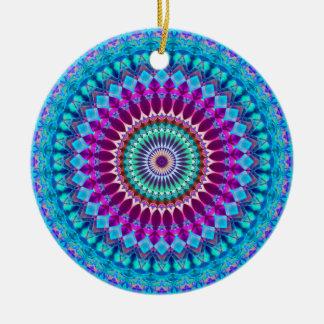 Ornement Rond En Céramique Mandala géométrique G382 d'ornement
