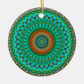 Ornement Rond En Céramique Mandala géométrique G388 d'ornement
