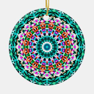 Ornement Rond En Céramique Mandala géométrique G405 d'ornement