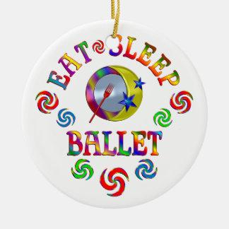 Ornement Rond En Céramique Mangez le ballet de sommeil