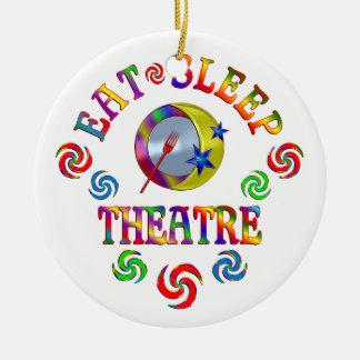 Ornement Rond En Céramique Mangez le théâtre de sommeil