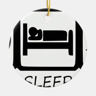 ORNEMENT ROND EN CÉRAMIQUE MANGEZ SLEEP15