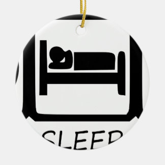 ORNEMENT ROND EN CÉRAMIQUE MANGEZ SLEEP31