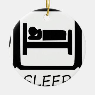 ORNEMENT ROND EN CÉRAMIQUE MANGEZ SLEEP9