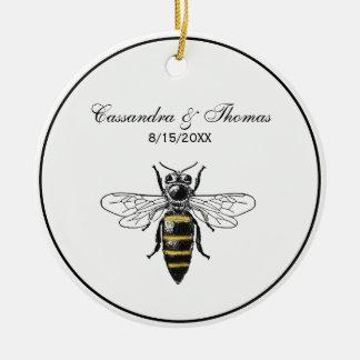 Ornement Rond En Céramique Manteau de l'abeille #2 des bras vintage