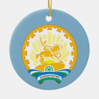 Ornement Rond En Céramique Manteau des bras de Bashkortostan