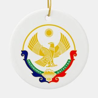 Ornement Rond En Céramique Manteau des bras de Dagestan