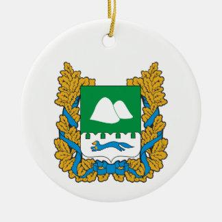 Ornement Rond En Céramique Manteau des bras de l'oblast de Kurgan