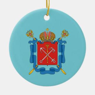 Ornement Rond En Céramique Manteau des bras du St Petersbourg
