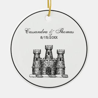 Ornement Rond En Céramique Manteau héraldique vintage d'emblème de château de
