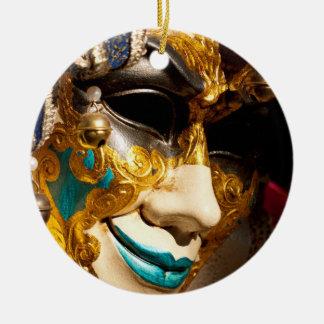 Ornement Rond En Céramique Masque vénitien