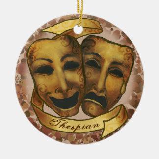 Ornement Rond En Céramique Masques d'acteur